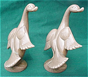 Pr. of Roselane California Pottery Swans (Image1)