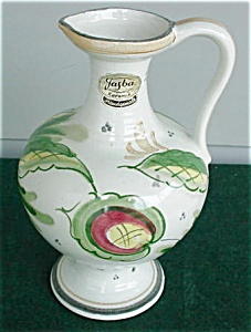 Jasba German Floral Handle Pottery Vase (Image1)