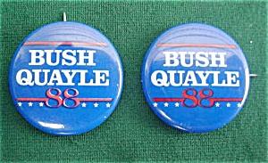 Bush/Quayle 1988 Presidential Pinbacks (Image1)