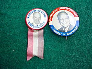 Pr. of Eisenhower Portrait Pinbacks (Image1)