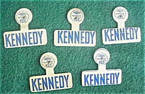 (5) Identical Kennedy Political Badges (Image1)