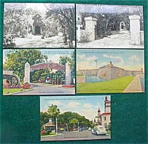 St. Augustine, Fl Postcard Collection (Image1)
