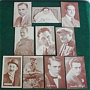 10 Old Movie/Film Actor Postcards (Image1)
