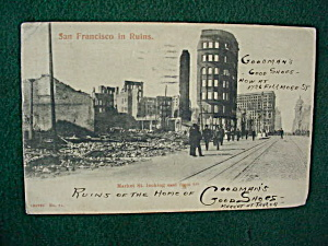 1906 San Francisco in Ruins Postcard (Image1)