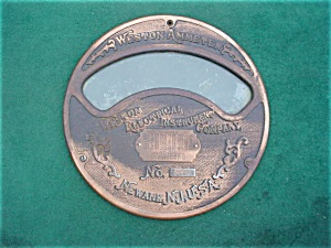Weston Ammeter Newark, N.j. Face Plate