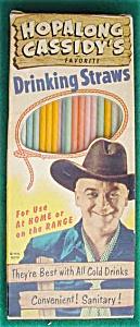 Hopalong Cassidy's Drinking Straws w/Org. Box (Image1)