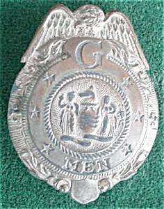 1930's Child's G-Men Toy Badge (Image1)