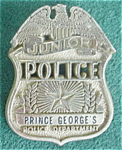 Prince Georges Junior Police Dept. Badge (Image1)