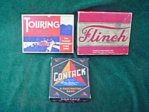 3 Old Parker Bros. Box Games (Image1)