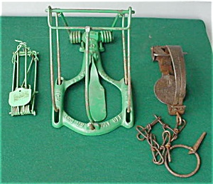 (3) Old Animal Traps (Image1)