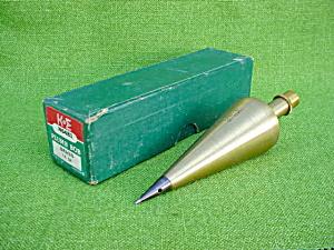 Nice, K&E 16 Oz. Brass Plumb Box w/Box (Image1)
