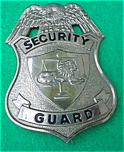50's Security Guard Badge (Image1)