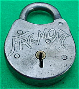 Old Fremont Steel Lock (Image1)