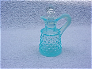 Fenton Hobnail Light Blue Cruet w/Stopper (Image1)