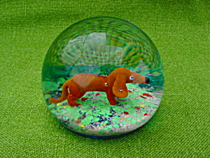 Murano Dog Glass Paperweight (Image1)