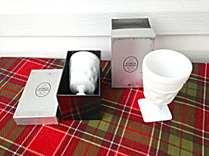 McKee Milk Glass Plymouth Thumbprint Tumbler  (Image1)
