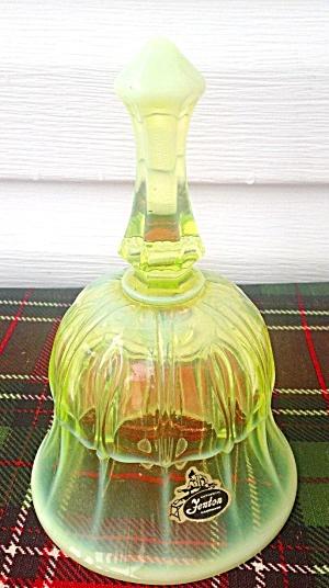 Fenton Vaseline Glass Bell (Image1)