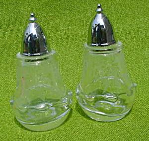 Pr. of Fostoria Heather Etch S&P Shakers (Image1)
