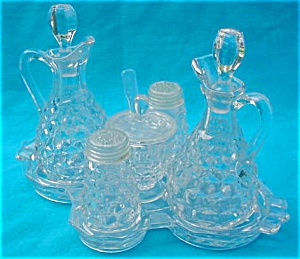Scarce, American Fostoria 6 Pc. Condiment Set (Image1)