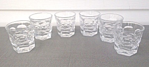 6 Fostoria Argus Old Fashion Tumblers