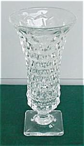 American Fostoria 9 in. Sq. Ftd. Vase (Image1)
