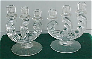 Pr. of Fostoria Trindle Candleholders (Image1)