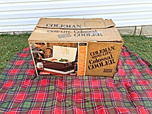 Brown & White Coleman Colossal Cooler NEW (Image1)