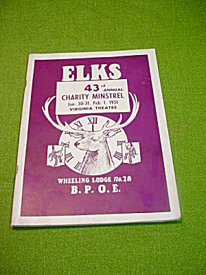 Elks Wheeling 28 Charity Minstrel Program (Image1)