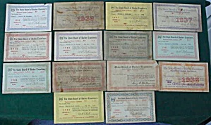 1934-48 State of Ohio Barber Licenses (Image1)