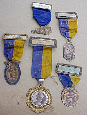 Collection of Old DAV Convention Medals (Image1)