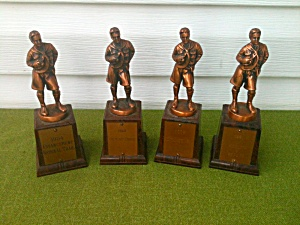 4 Older Boy Scouts Achievement Trophies  (Image1)