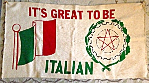 It's Great To Be Italian Banner
