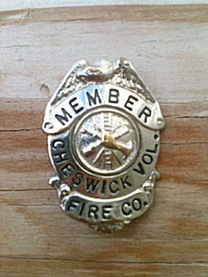 Old Badge Cheswick Volunteer Fire Pittsburgh? (Image1)
