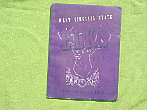 1939 West Virginia Elks Convention Book (Image1)