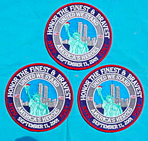 (3)  9/11 NYPD FDNY Patches (Image1)