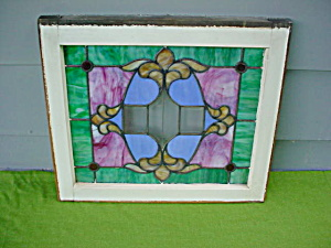 Old Framed Stain Glass Window