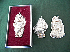 International Silver Santa Clause Ornaments (Image1)