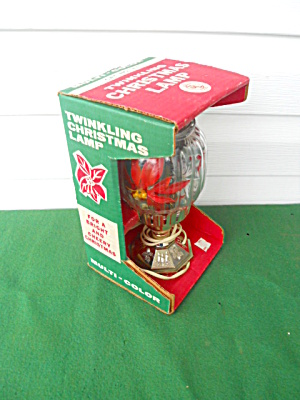 Twinkling Christmas Lamp w/Org. Box (Image1)