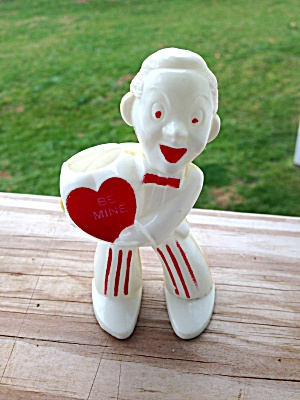 Vintage Valentines Be Mine Plastic Figure
