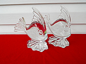 Pr. Of Viking Glass Angelfish Bookend