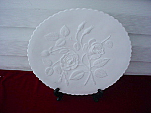 Imperial Milk Glass Rose Plate (Image1)