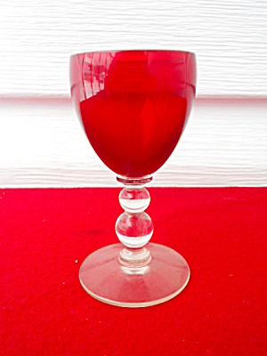 Imperial Candlewick Ruby Red 1 oz. Cordial (Image1)