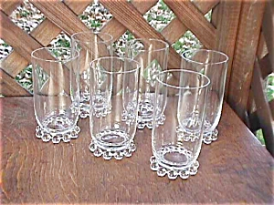 6 Imperial Candlewick 12 oz  Ice Tea Tumblers (Image1)