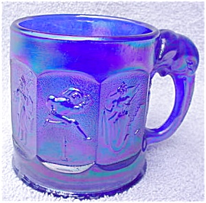 Imperial Blue Iridescent Child's Circus Mug (Image1)