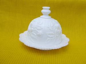 Imperial Milk Glass Lg. Butter & Cover (Image1)