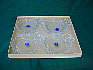 4 Pc. Imperial Candlewick Bridge Ashtray Set