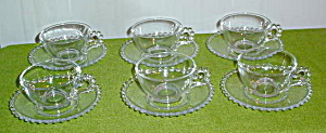 (6) Imperial Candlewick Tea Cups W/saucers