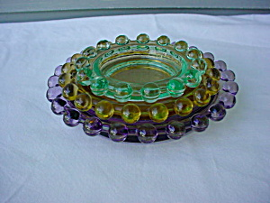 3 Pc. Colored Candlewick Nested Ashtray Set