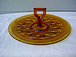 Imperial Amber Cape Cod Handled Pastry Tray