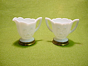 Imperial Milk Glass Rose Cream & Sugar Set (Image1)